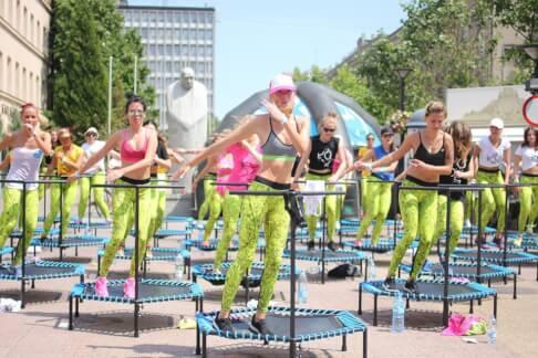 Event trampolinowy Fit&Jump, ulica Piotrkowska - Łódź 62